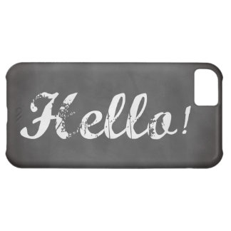 Hello Trendy gray chalkboard Cover For iPhone 5C