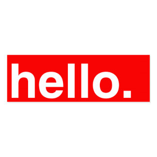 HELLO Typography Greeting Business Cards