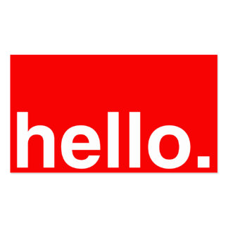 HELLO Typography Greeting Business Card