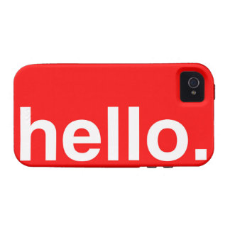 HELLO Typography Greeting iPhone 4/4S Cover