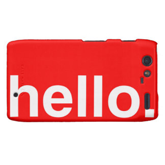 HELLO Typography Greeting Droid RAZR Cover