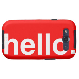 HELLO Typography Greeting Samsung Galaxy SIII Cases