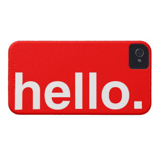 HELLO Typography Greeting iPhone 4 Case-Mate Case