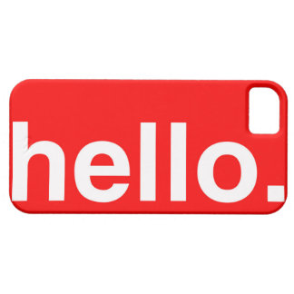 HELLO Typography Greeting iPhone 5 Covers