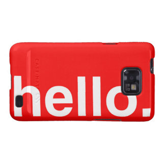 HELLO Typography Greeting Samsung Galaxy S2 Case