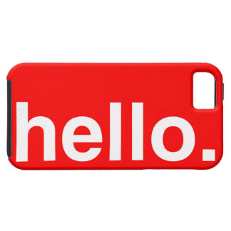 HELLO Typography Greeting iPhone 5 Cover