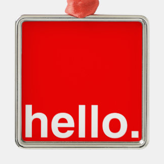 HELLO Typography Greeting Christmas Tree Ornaments