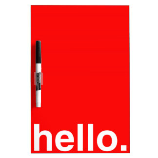 HELLO Typography Greeting Dry Erase Board