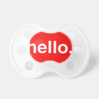 HELLO Typography Greeting Pacifier
