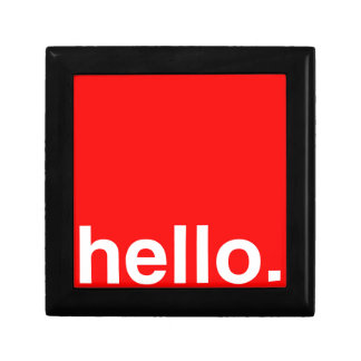 HELLO Typography Greeting Keepsake Boxes