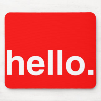 HELLO Typography Greeting Mouse Pads