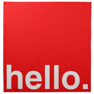 HELLO Typography Greeting Cloth Napkin