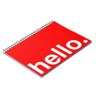 HELLO Typography Greeting Spiral Notebook