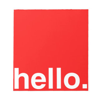 HELLO Typography Greeting Notepads