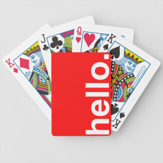 HELLO Typography Greeting Poker Cards
