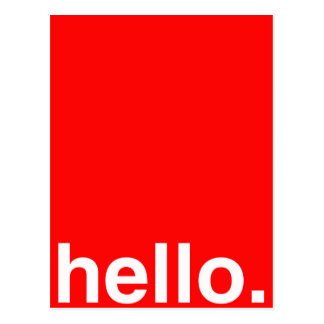HELLO Typography Greeting Post Card
