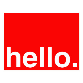 HELLO Typography Greeting Postcard