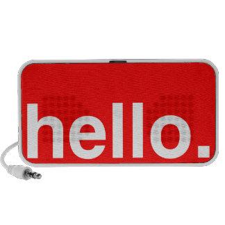 HELLO Typography Greeting Speakers