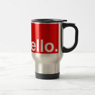 HELLO Typography Greeting Stainless Steel Travel Mug