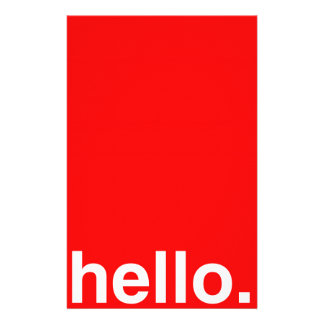 HELLO Typography Greeting Stationery Paper