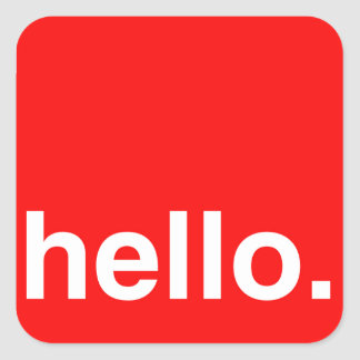 HELLO Typography Greeting Sticker