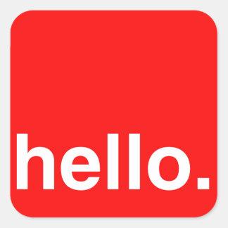 HELLO Typography Greeting Sticker
