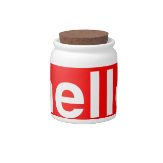 HELLO Typography Greeting Candy Jar