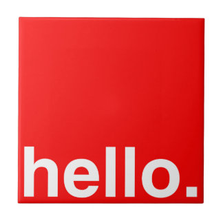 HELLO Typography Greeting Tile