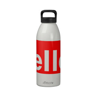 HELLO Typography Greeting Drinking Bottles