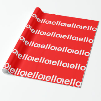 HELLO Typography Greeting Gift Wrapping Paper