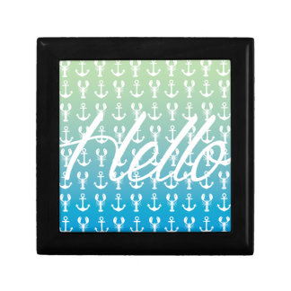 Hello with Anchors and Lobsters Gift Box