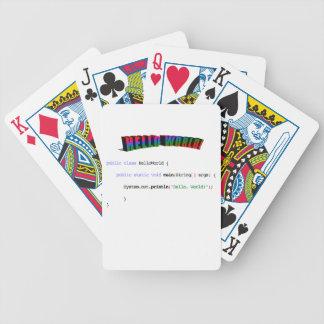 Hello World geek greeting Java Poker Deck