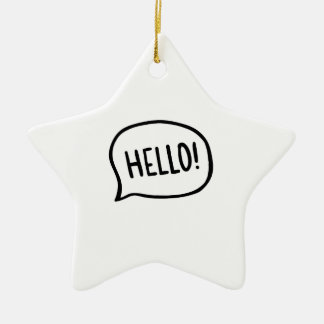 Hello! World! I am here Christmas Ornament