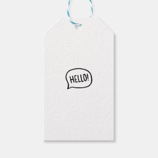 Hello! World! I am here Gift Tags