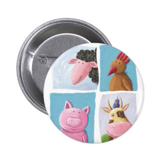 Help animals by promoting animal rights! 6 cm round badge