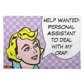 Help Wanted Funny Comic Book Placemat