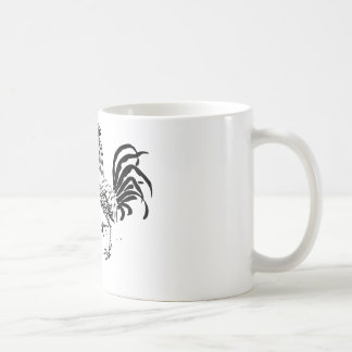 hen and rooster. coffee mugs
