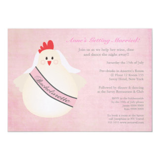Hen Bachelorette Night Party Illustrated Invite