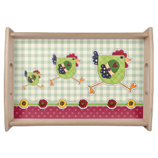 Hen Country Desig Easter Gift Serving Tray