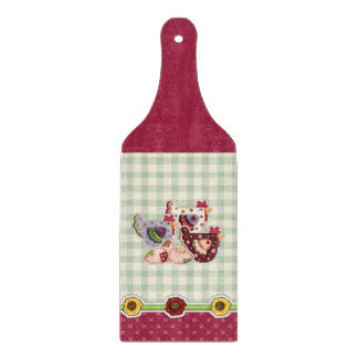 Hen Country Design Gift Cutting Board Paddle