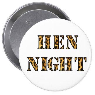 "Hen Night badges - ""Leopard print"""