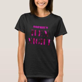 "Hen Night t-shirt - ""Pink mirror"""