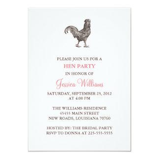 Hen Party 13 Cm X 18 Cm Invitation Card