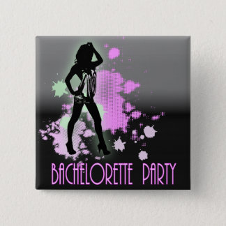Hen Party Mrs Bride silhouette  Bachelorette Party 15 Cm Square Badge