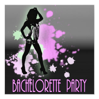 Hen Party Mrs Bride silhouette  Bachelorette Party Card