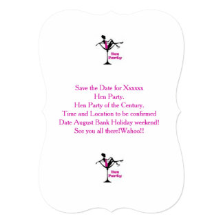 Hen Party Pink and Cocktail Invite