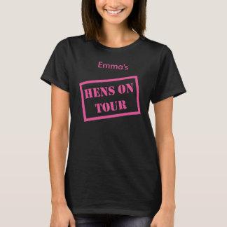 """Hen s on Tour"" border design Hen Night t-shirts"