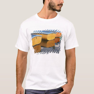 Henley-on-Thames row boats on the Thames River, T-Shirt