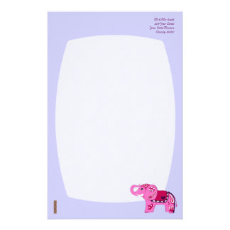 Henna Elephant (Pink/Purple) Stationery