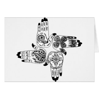 Henna Mehndi Hands Indian Designs Painted Wedding Greeting Card